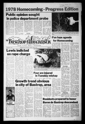 Primary view of object titled 'Bastrop Advertiser (Bastrop, Tex.), Vol. [125], No. 45, Ed. 1 Thursday, August 3, 1978'.
