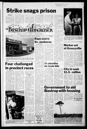Primary view of object titled 'Bastrop Advertiser (Bastrop, Tex.), Vol. [125], No. 11, Ed. 1 Thursday, April 6, 1978'.