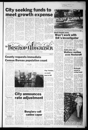 Primary view of object titled 'Bastrop Advertiser (Bastrop, Tex.), Vol. [125], No. 53, Ed. 1 Thursday, August 31, 1978'.