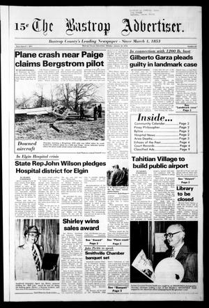 Primary view of object titled 'The Bastrop Advertiser (Bastrop, Tex.), Vol. [124], No. 69, Ed. 1 Monday, January 30, 1978'.