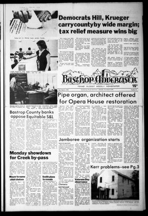 Primary view of object titled 'Bastrop Advertiser (Bastrop, Tex.), Vol. [125], No. 73, Ed. 1 Thursday, November 9, 1978'.