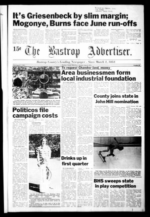 Primary view of object titled 'The Bastrop Advertiser (Bastrop, Tex.), Vol. [125], No. 20, Ed. 1 Monday, May 8, 1978'.