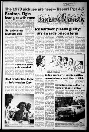 Primary view of object titled 'Bastrop Advertiser (Bastrop, Tex.), Vol. [125], No. 61, Ed. 1 Thursday, September 28, 1978'.