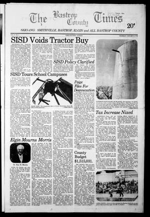 Primary view of object titled 'The Bastrop County Times (Bastrop, Tex.), Vol. 87, No. 2, Ed. 1 Thursday, January 12, 1978'.