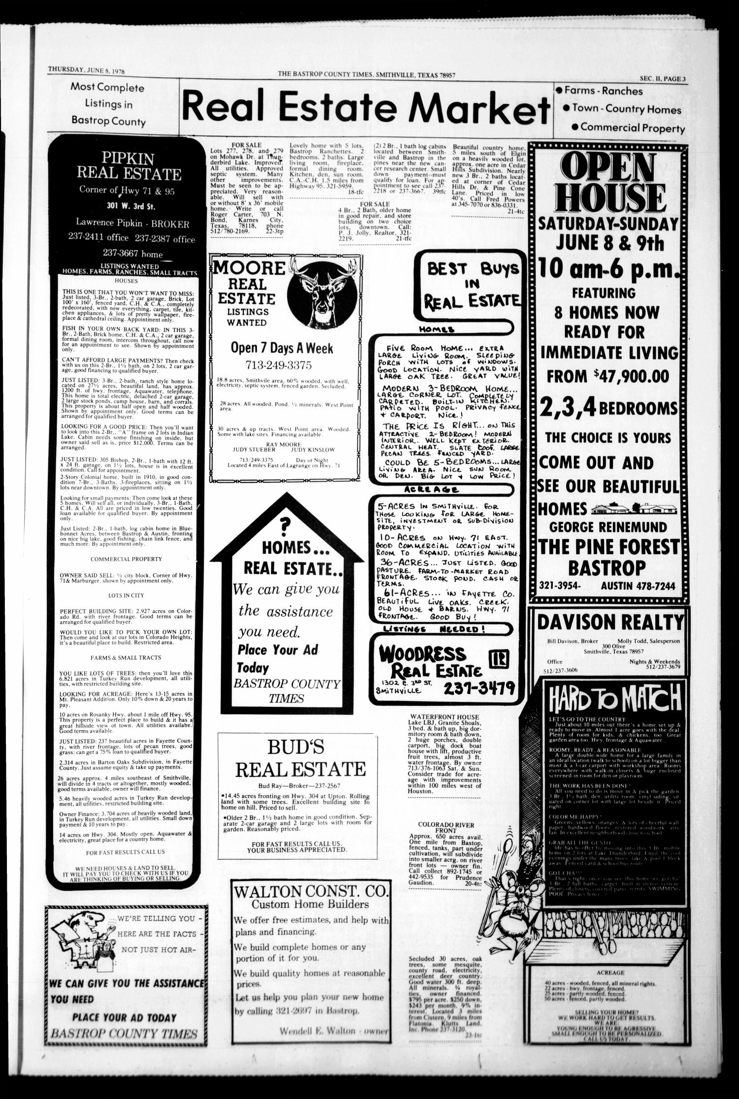 The Bastrop County Times (Bastrop, Tex ), Vol  87, No  23