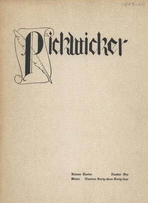 Primary view of object titled 'The Pickwicker, Volume 12, Number 1, Winter 1943-1944'.