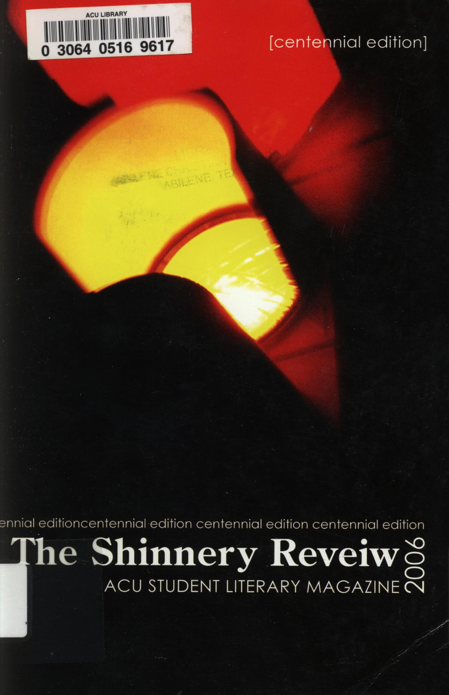 The Shinnery Review, 2006                                                                                                      Front Cover