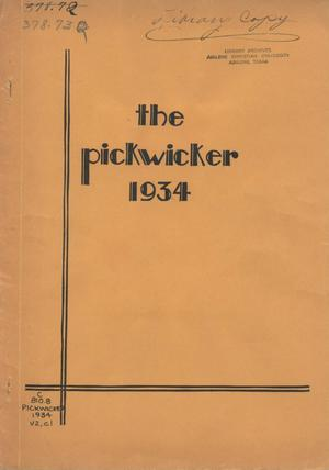 Primary view of object titled 'The Pickwicker, Volume 2, Number 1, April 1934'.