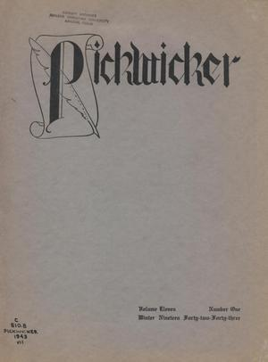 Primary view of object titled 'The Pickwicker, Volume 11, Number 1, Winter 1942-1943'.