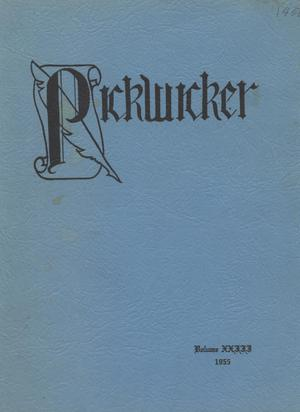 Primary view of object titled 'The Pickwicker, Volume 23, 1955'.