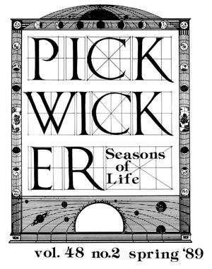Primary view of object titled 'The Pickwicker, Volume 48, Number 2, Spring 1989'.