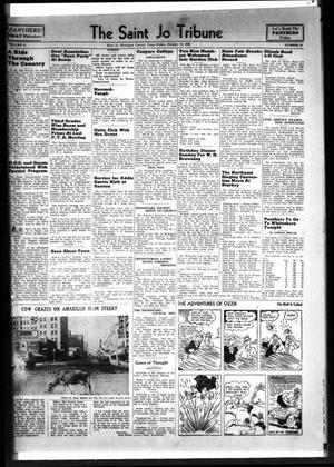 Primary view of The Saint Jo Tribune (Saint Jo, Tex.), Vol. 42, No. 21, Ed. 1 Friday, October 13, 1939