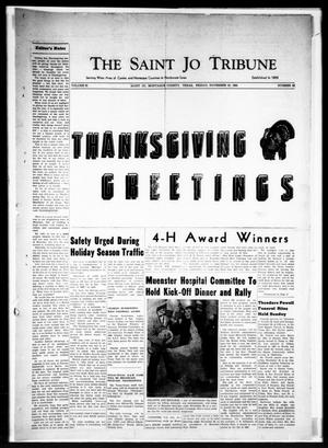 Primary view of object titled 'The Saint Jo Tribune (Saint Jo, Tex.), Vol. 62, No. 52, Ed. 1 Friday, November 25, 1960'.