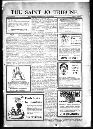 Primary view of object titled 'The Saint Jo Tribune (Saint Jo, Tex.), Vol. 31, No. 4, Ed. 1 Friday, December 21, 1928'.