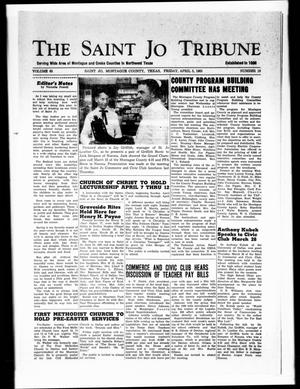 Primary view of object titled 'The Saint Jo Tribune (Saint Jo, Tex.), Vol. 65, No. 19, Ed. 1 Friday, April 5, 1963'.
