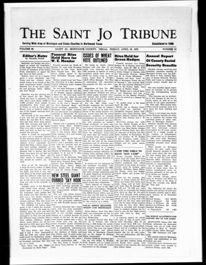 Primary view of object titled 'The Saint Jo Tribune (Saint Jo, Tex.), Vol. 65, No. 22, Ed. 1 Friday, April 26, 1963'.