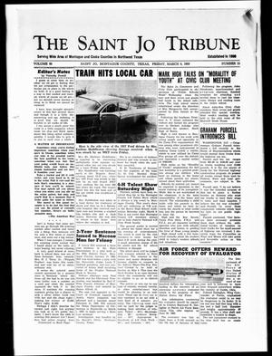 Primary view of object titled 'The Saint Jo Tribune (Saint Jo, Tex.), Vol. 65, No. 15, Ed. 1 Friday, March 8, 1963'.