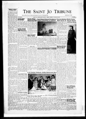 Primary view of object titled 'The Saint Jo Tribune (Saint Jo, Tex.), Vol. 63, No. 39, Ed. 1 Friday, August 25, 1961'.