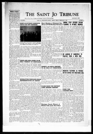 Primary view of object titled 'The Saint Jo Tribune (Saint Jo, Tex.), Vol. 63, No. 12, Ed. 1 Friday, February 17, 1961'.