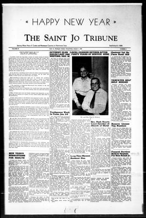 Primary view of object titled 'The Saint Jo Tribune (Saint Jo, Tex.), Vol. 62, No. 5, Ed. 1 Friday, January 1, 1960'.