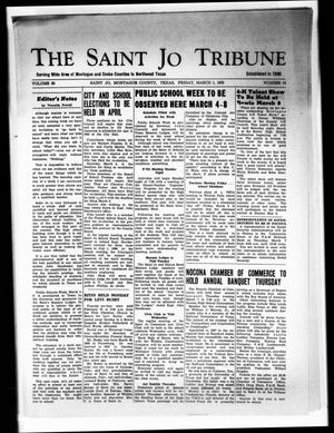 Primary view of object titled 'The Saint Jo Tribune (Saint Jo, Tex.), Vol. 65, No. 14, Ed. 1 Friday, March 1, 1963'.