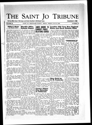 Primary view of object titled 'The Saint Jo Tribune (Saint Jo, Tex.), Vol. 65, No. 33, Ed. 1 Friday, July 12, 1963'.