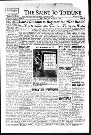 Primary view of object titled 'The Saint Jo Tribune (Saint Jo, Tex.), Vol. 44, No. 46, Ed. 1 Friday, May 1, 1942'.