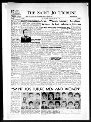 Primary view of object titled 'The Saint Jo Tribune (Saint Jo, Tex.), Vol. 62, No. 24, Ed. 1 Friday, May 13, 1960'.