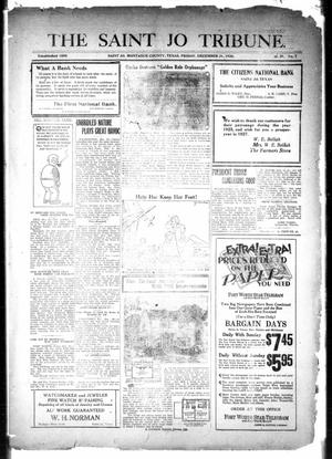 Primary view of object titled 'The Saint Jo Tribune (Saint Jo, Tex.), Vol. 29, No. 7, Ed. 1 Friday, December 31, 1926'.