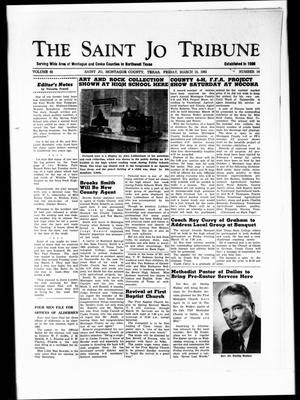 Primary view of object titled 'The Saint Jo Tribune (Saint Jo, Tex.), Vol. 65, No. 16, Ed. 1 Friday, March 15, 1963'.