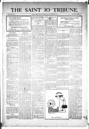 Primary view of object titled 'The Saint Jo Tribune (Saint Jo, Tex.), Vol. 30, No. 1, Ed. 1 Friday, November 18, 1927'.