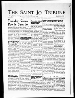 Primary view of object titled 'The Saint Jo Tribune (Saint Jo, Tex.), Vol. 65, No. 21, Ed. 1 Friday, April 19, 1963'.