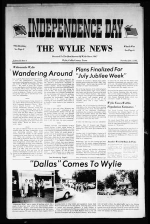 Primary view of object titled 'The Wylie News (Wylie, Tex.), Vol. 35, No. 2, Ed. 1 Thursday, July 1, 1982'.