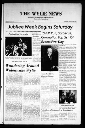 Primary view of object titled 'The Wylie News (Wylie, Tex.), Vol. 36, No. 12, Ed. 1 Thursday, September 8, 1983'.