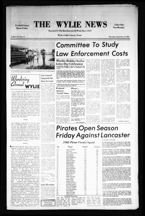 Primary view of object titled 'The Wylie News (Wylie, Tex.), Vol. 35, No. 11, Ed. 1 Thursday, September 2, 1982'.