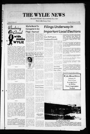 Primary view of object titled 'The Wylie News (Wylie, Tex.), Vol. 35, No. 34, Ed. 1 Thursday, February 10, 1983'.