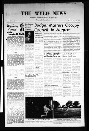 Primary view of object titled 'The Wylie News (Wylie, Tex.), Vol. 35, No. 8, Ed. 1 Thursday, August 12, 1982'.