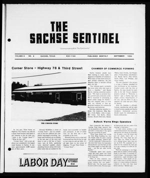 The Sachse Sentinel (Sachse, Tex.), Vol. 9, No. 9, Ed. 1 Saturday, September 1, 1984
