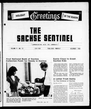 Primary view of object titled 'The Sachse Sentinel (Sachse, Tex.), Vol. 11, No. 12, Ed. 1 Monday, December 1, 1986'.