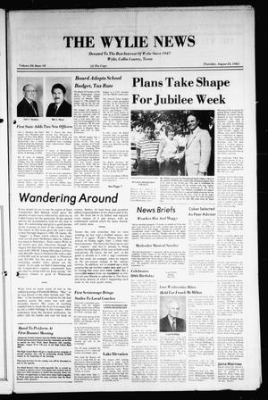 Primary view of object titled 'The Wylie News (Wylie, Tex.), Vol. 36, No. 10, Ed. 1 Thursday, August 25, 1983'.