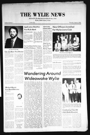 Primary view of object titled 'The Wylie News (Wylie, Tex.), Vol. 36, No. 7, Ed. 1 Thursday, August 4, 1983'.