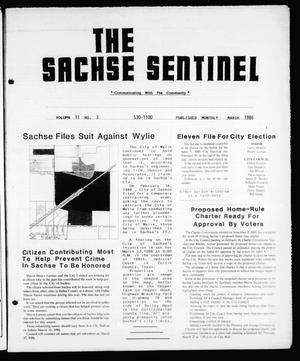 Primary view of object titled 'The Sachse Sentinel (Sachse, Tex.), Vol. 11, No. 3, Ed. 1 Saturday, March 1, 1986'.