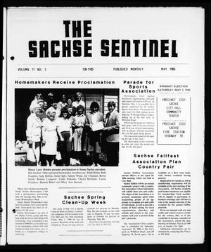 Primary view of object titled 'The Sachse Sentinel (Sachse, Tex.), Vol. 11, No. 5, Ed. 1 Thursday, May 1, 1986'.