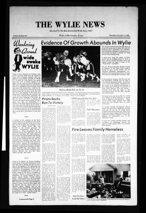 Primary view of object titled 'The Wylie News (Wylie, Tex.), Vol. 35, No. 20, Ed. 1 Thursday, November 4, 1982'.