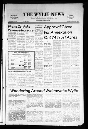 Primary view of object titled 'The Wylie News (Wylie, Tex.), Vol. 35, No. 35, Ed. 1 Thursday, February 17, 1983'.