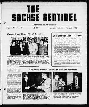Primary view of object titled 'The Sachse Sentinel (Sachse, Tex.), Vol. 11, No. 2, Ed. 1 Saturday, February 1, 1986'.