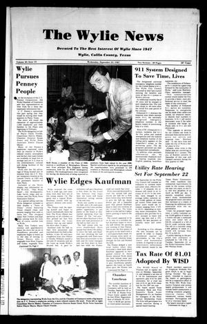Primary view of object titled 'The Wylie News (Wylie, Tex.), Vol. 40, No. 15, Ed. 1 Wednesday, September 23, 1987'.