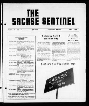 Primary view of object titled 'The Sachse Sentinel (Sachse, Tex.), Vol. 11, No. 4, Ed. 1 Tuesday, April 1, 1986'.