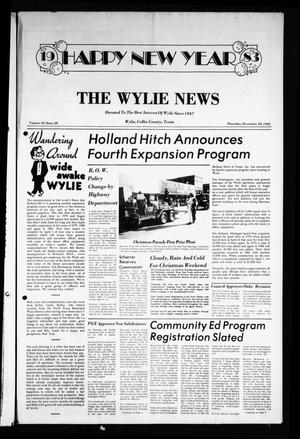 Primary view of object titled 'The Wylie News (Wylie, Tex.), Vol. 35, No. 28, Ed. 1 Thursday, December 30, 1982'.