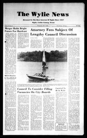 Primary view of object titled 'The Wylie News (Wylie, Tex.), Vol. 40, No. 3, Ed. 1 Wednesday, July 1, 1987'.